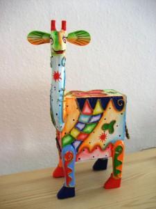meine Ich-spar-für-Ruanda-Giraffe