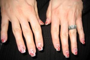 Fingernägel für den Weihnachtsball